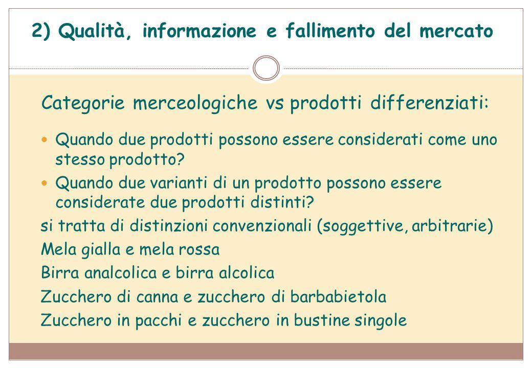 Categorie merceologiche vs prodotti differenziati: Quando due prodotti possono essere considerati come uno stesso prodotto? Quando due varianti di un