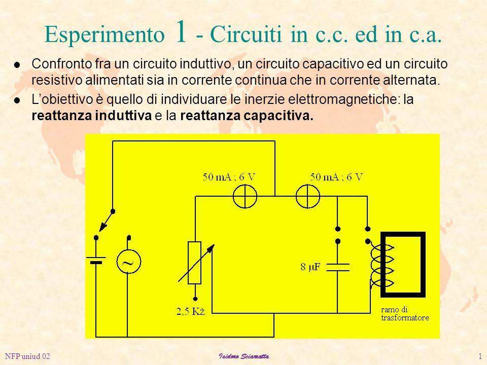 NFP uniud 02Isidoro Sciarratta1 Esperimento 1 - Circuiti in c.c.