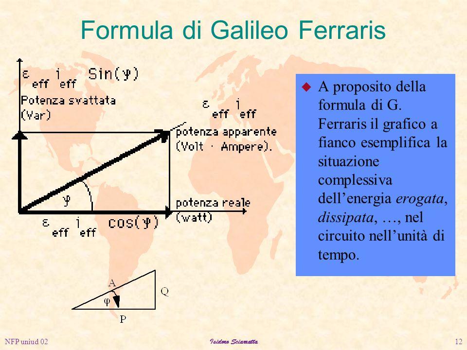 NFP uniud 02Isidoro Sciarratta12 Formula di Galileo Ferraris u A proposito della formula di G.