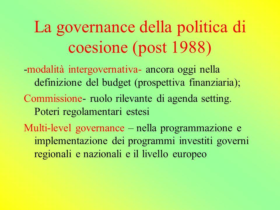 I finanziamenti fino al 1988 Sono conferiti ai governi nazionali, pro quota, che li gestiscono autonomamente e spesso li utilizzano per finanziare iniziative già avviate.