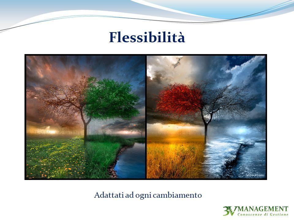 Flessibilità Adattati ad ogni cambiamento