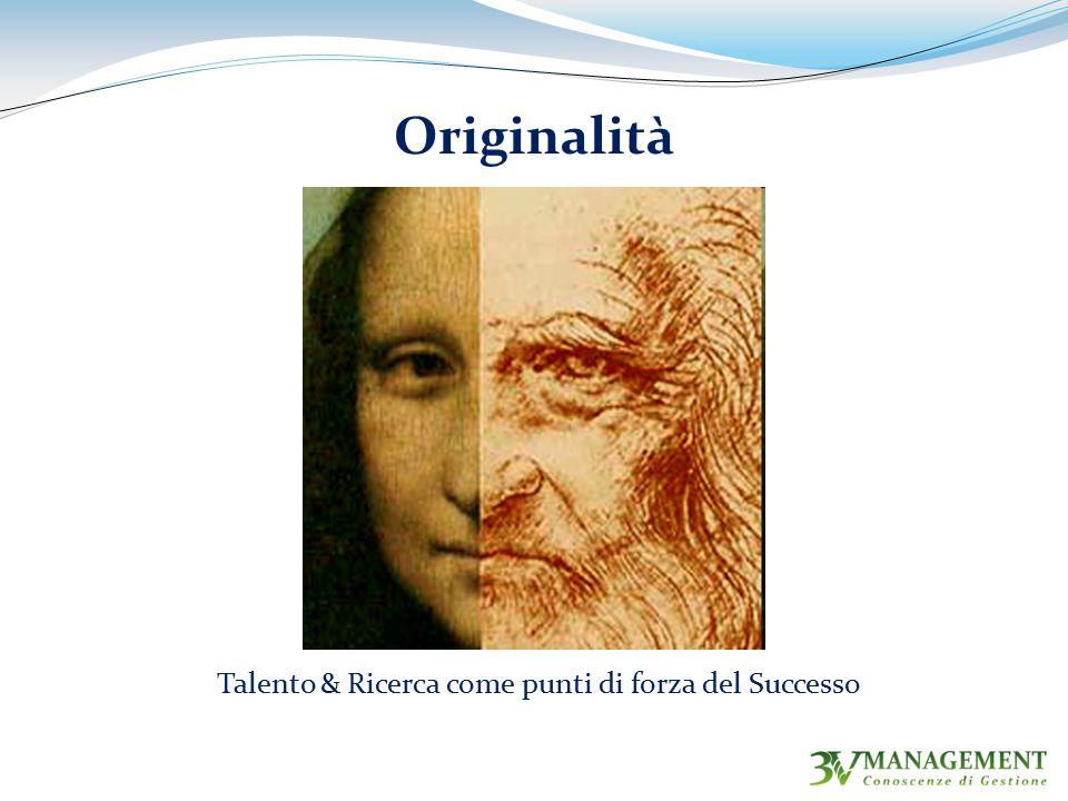 Originalità Talento & Ricerca come punti di forza del Successo