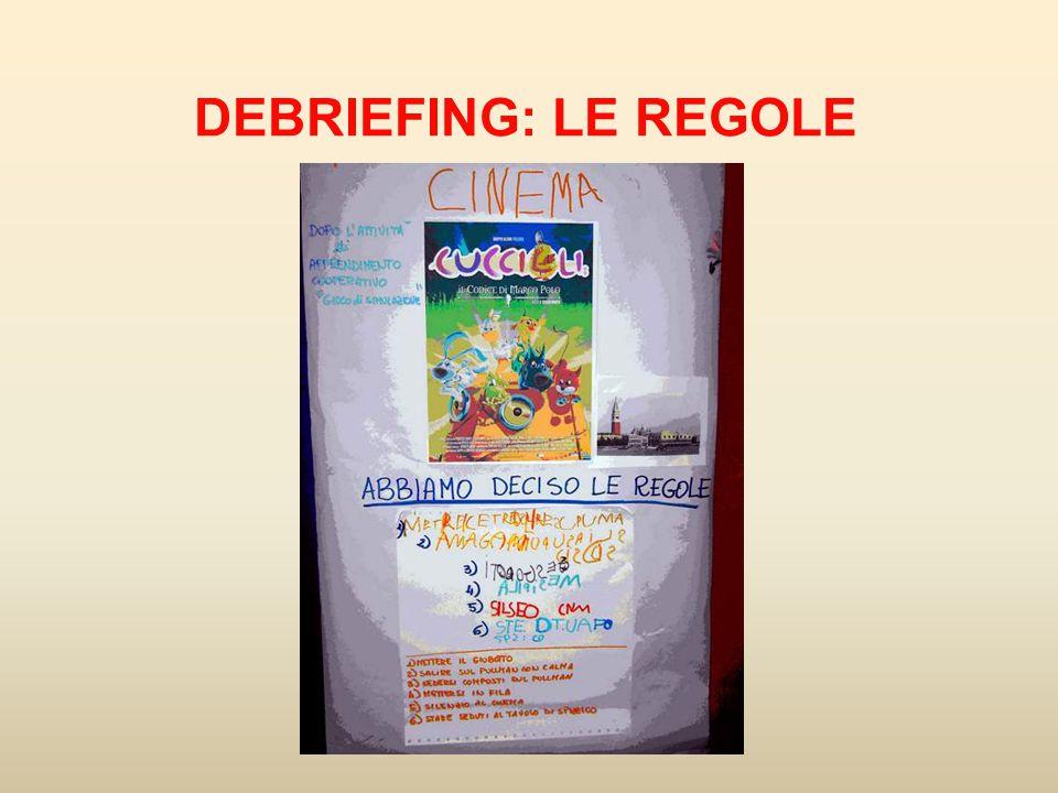 DEBRIEFING: LE REGOLE