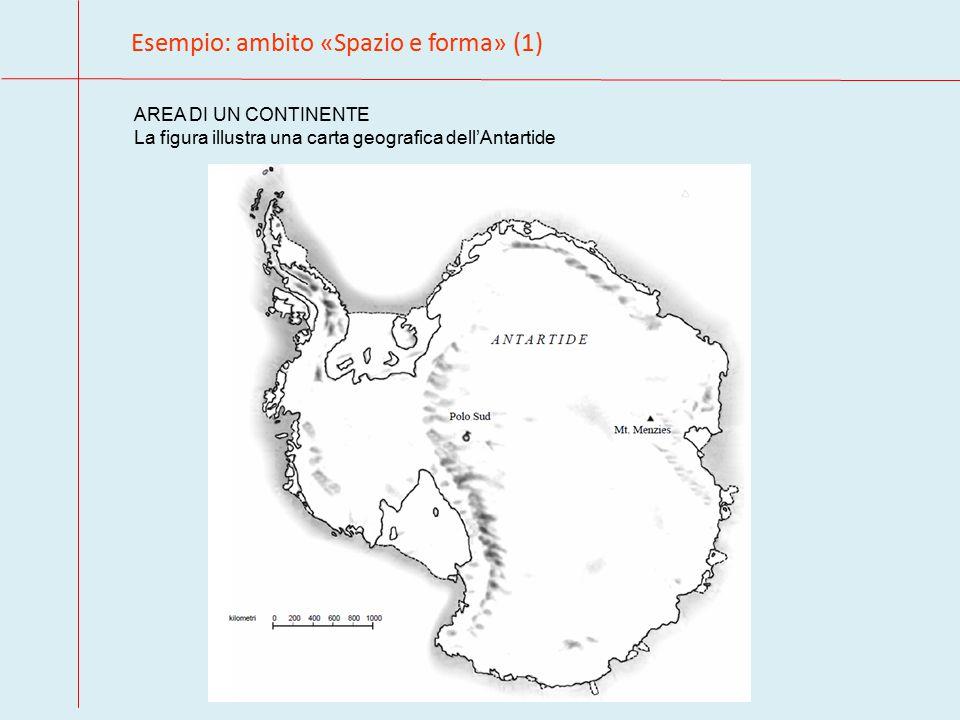 Esempio: ambito «Spazio e forma» (1) AREA DI UN CONTINENTE La figura illustra una carta geografica dell'Antartide