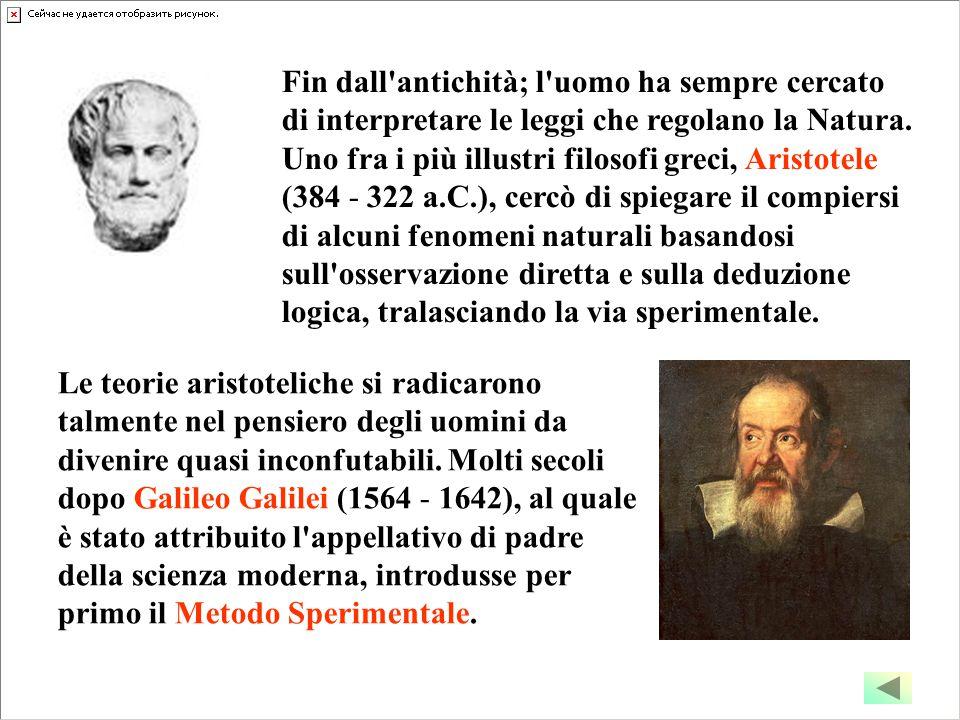 Fin dall'antichità; l'uomo ha sempre cercato di interpretare le leggi che regolano la Natura. Uno fra i più illustri filosofi greci, Aristotele (384 -
