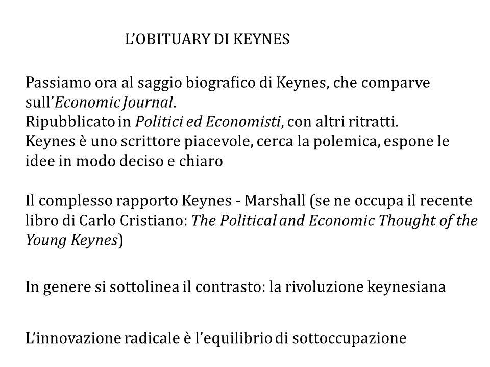 Passiamo ora al saggio biografico di Keynes, che comparve sull'Economic Journal.
