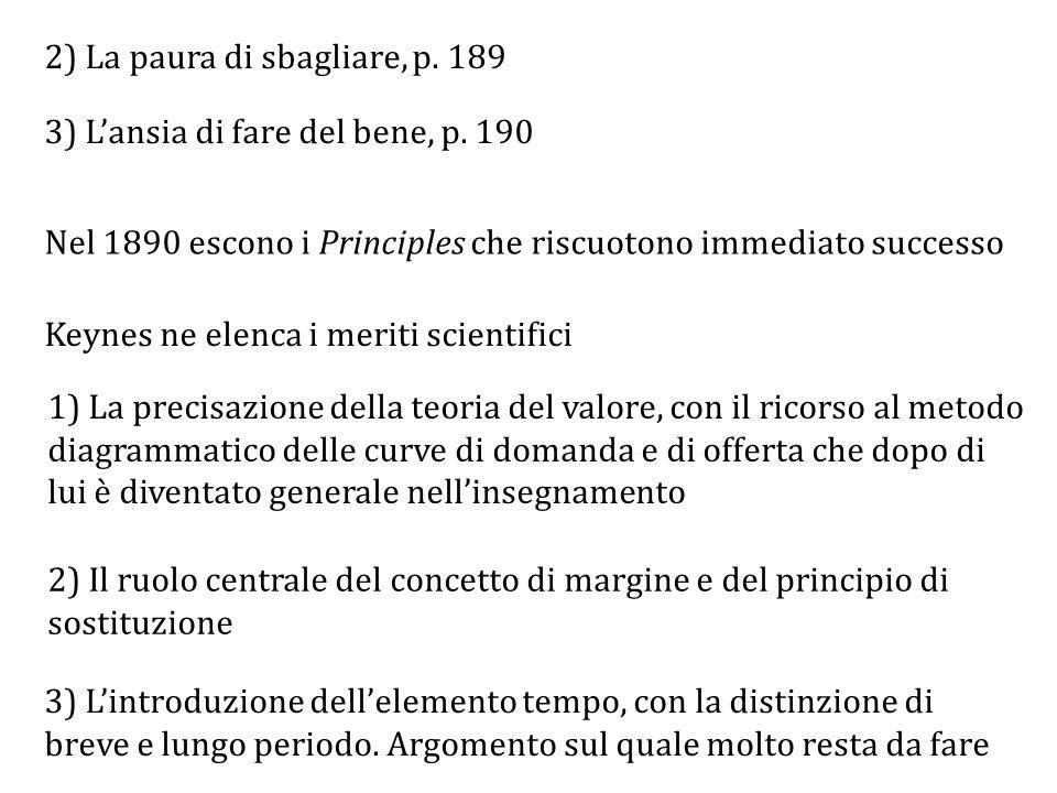 2) La paura di sbagliare, p.189 3) L'ansia di fare del bene, p.