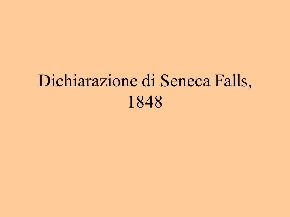 Dichiarazione di Seneca Falls, 1848