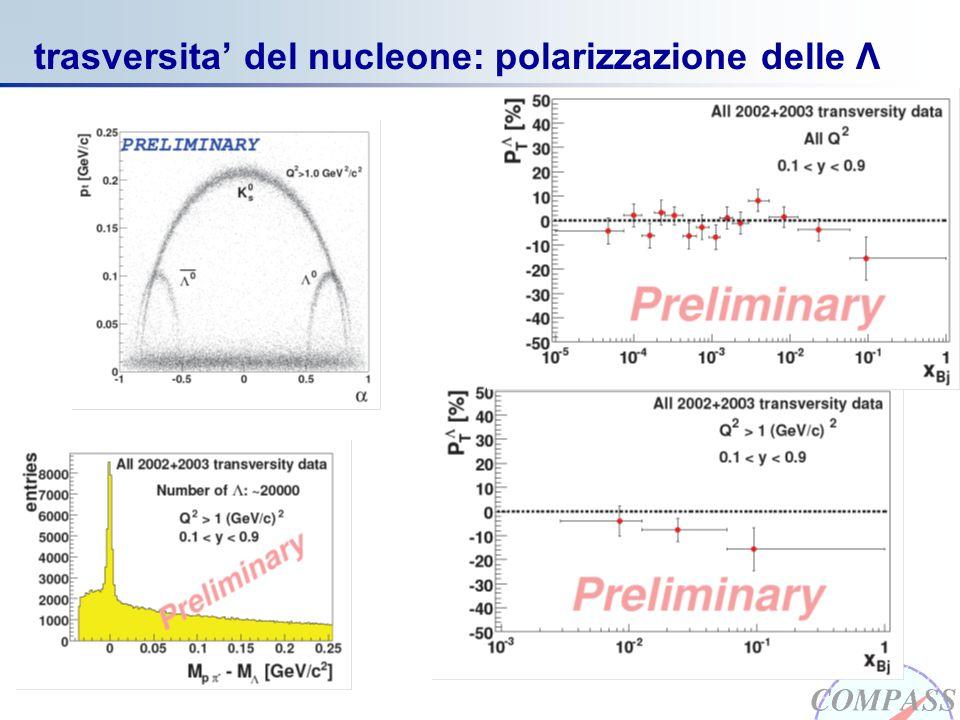 COMPASS marzo 2006 trasversita' del nucleone: polarizzazione delle Λ