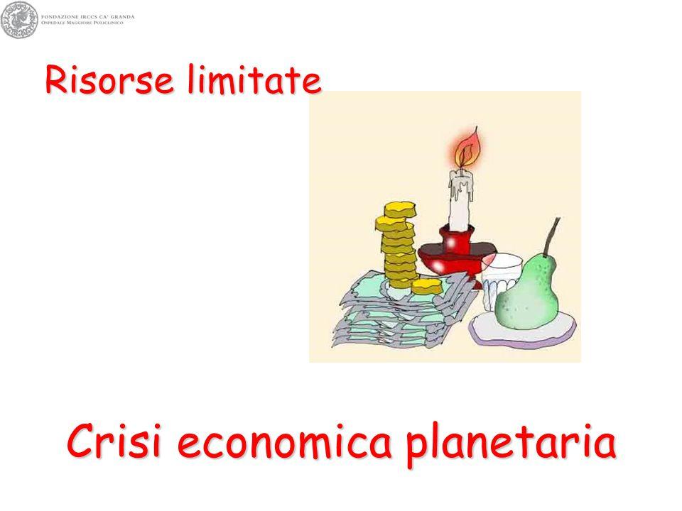 Risorse limitate Crisi economica planetaria