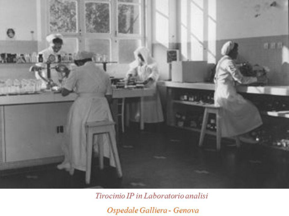 Tirocinio IP in Laboratorio analisi Ospedale Galliera - Genova