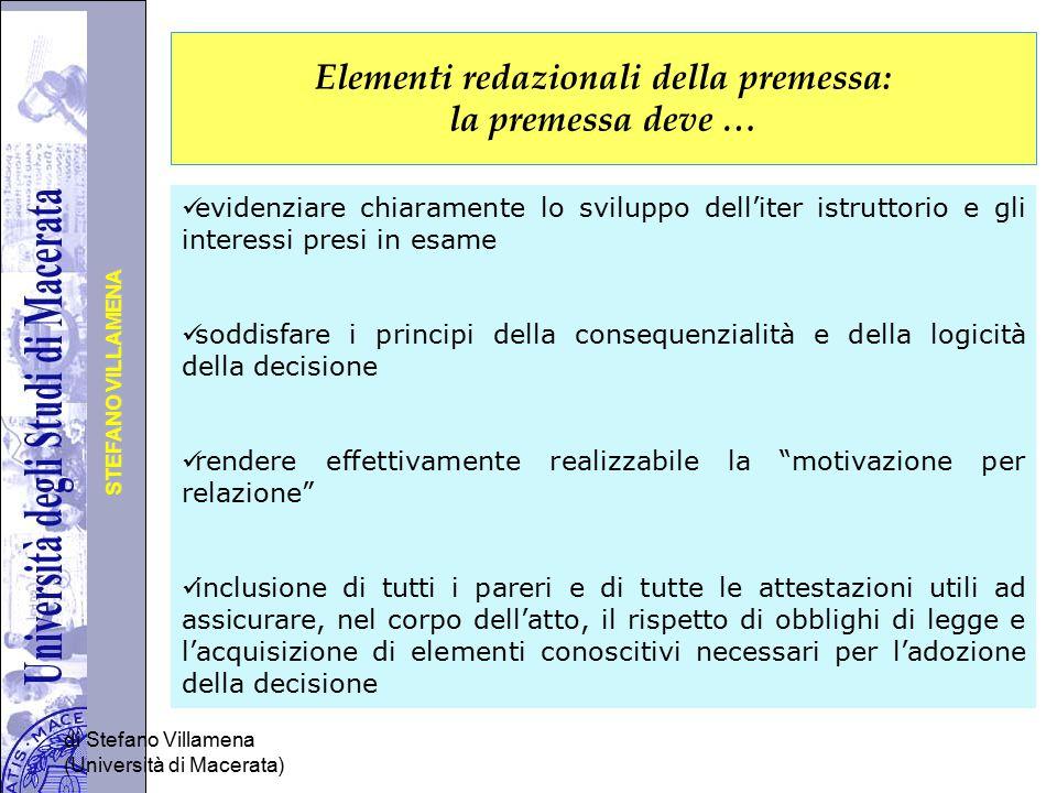 Università degli Studi di Perugia STEFANO VILLAMENA di Stefano Villamena (Università di Macerata) Elementi redazionali della premessa: la premessa dev