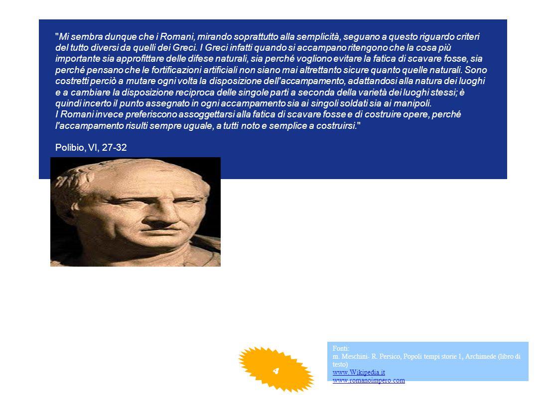 Mi sembra dunque che i Romani, mirando soprattutto alla semplicità, seguano a questo riguardo criteri del tutto diversi da quelli dei Greci.