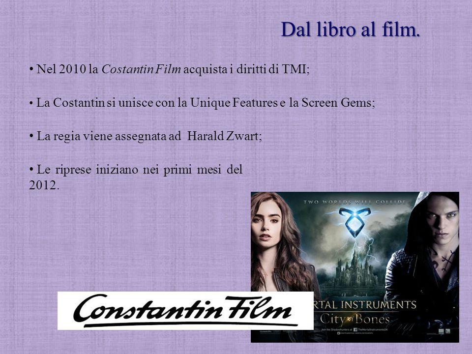 Dal libro al film. Nel 2010 la Costantin Film acquista i diritti di TMI; La Costantin si unisce con la Unique Features e la Screen Gems; Le riprese in
