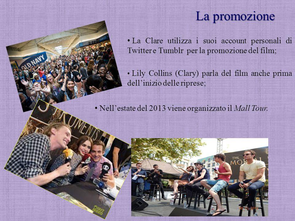 La promozione Nell'estate del 2013 viene organizzato il Mall Tour. La Clare utilizza i suoi account personali di Twitter e Tumblr per la promozione de
