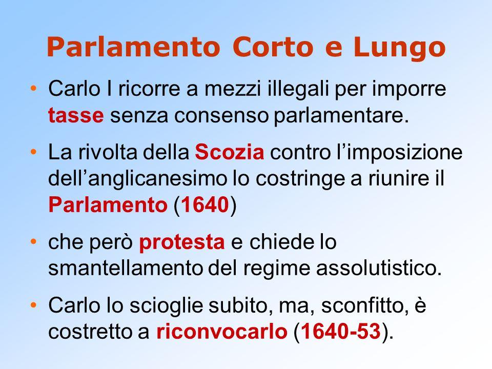 La fine dell'assolutismo Il Parlamento ottiene  L'Abolizione degli organi di governo del re.