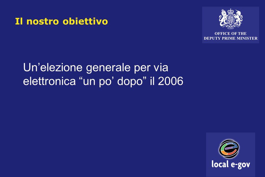 Il nostro obiettivo Un'elezione generale per via elettronica un po' dopo il 2006