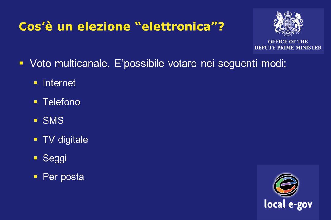 Cos'è un elezione elettronica .  Voto multicanale.
