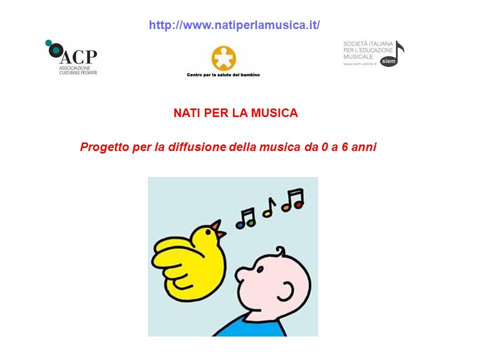 Progetto per la diffusione della musica da 0 a 6 anni NATI PER LA MUSICA http://www.natiperlamusica.it/