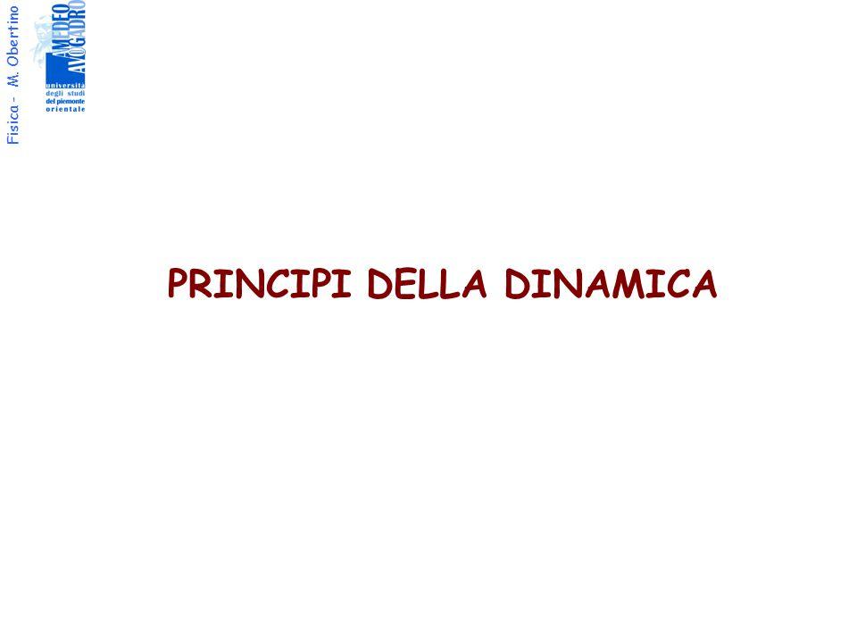 Fisica - M. Obertino PRINCIPI DELLA DINAMICA