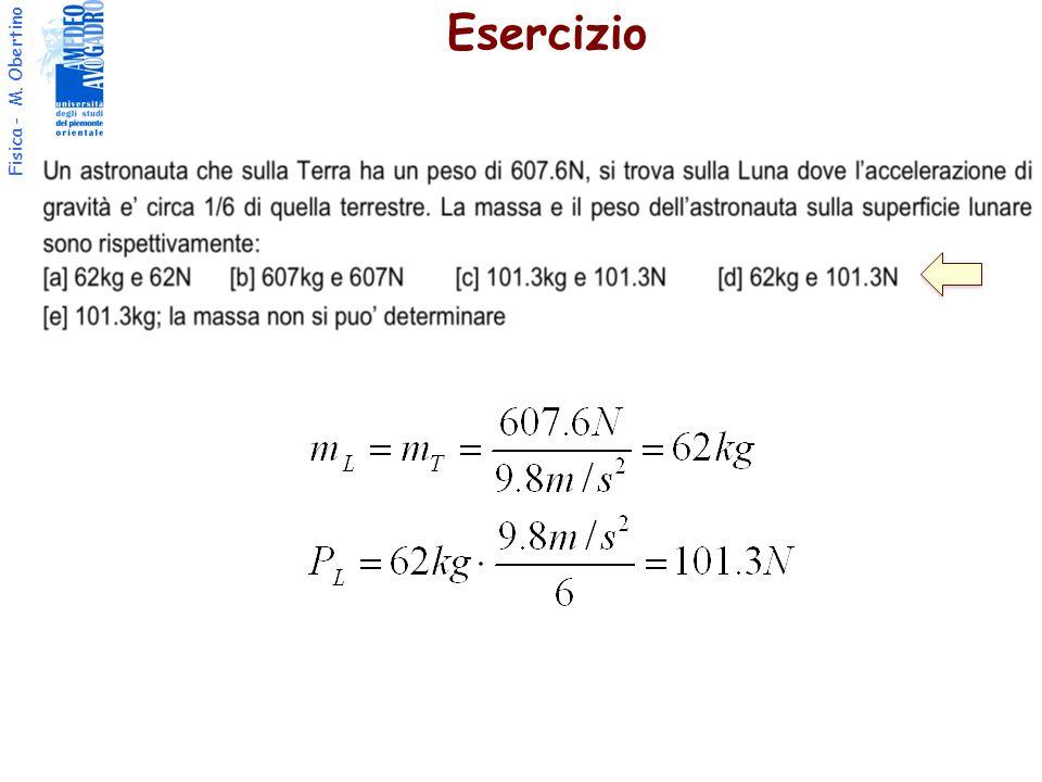 Fisica - M. Obertino Esercizio