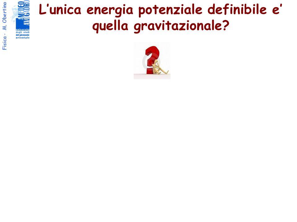 Fisica - M. Obertino L'unica energia potenziale definibile e' quella gravitazionale?