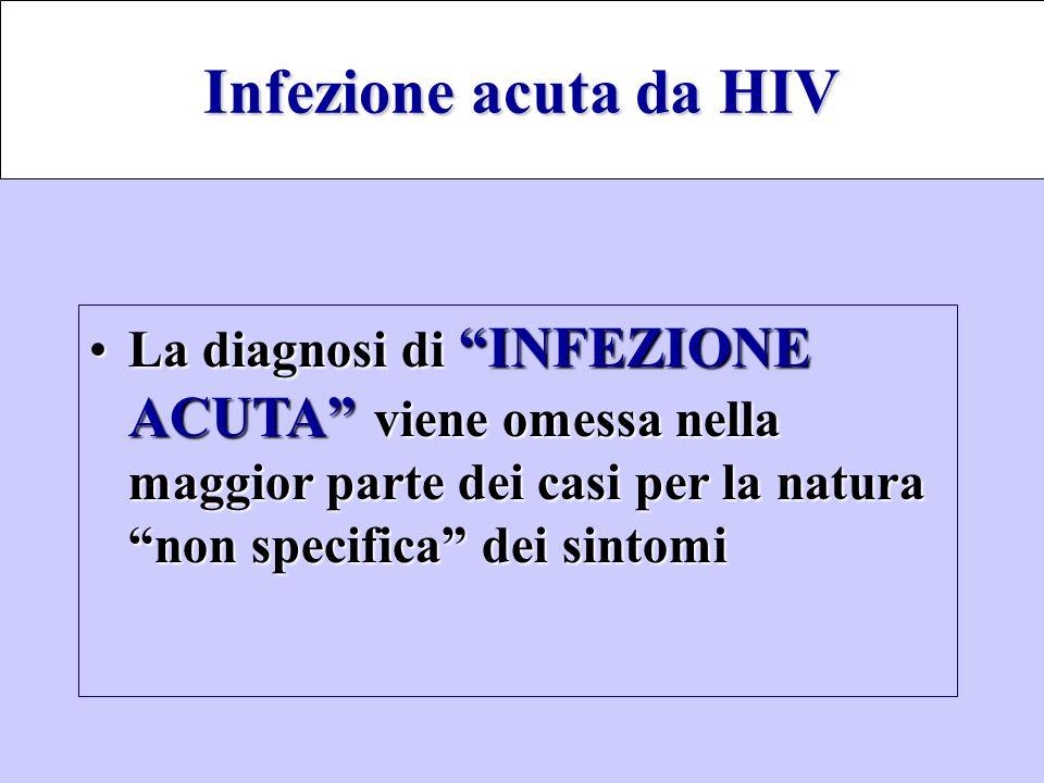 """La diagnosi di """"INFEZIONE ACUTA"""" viene omessa nella maggior parte dei casi per la natura """"non specifica"""" dei sintomiLa diagnosi di """"INFEZIONE ACUTA"""" v"""