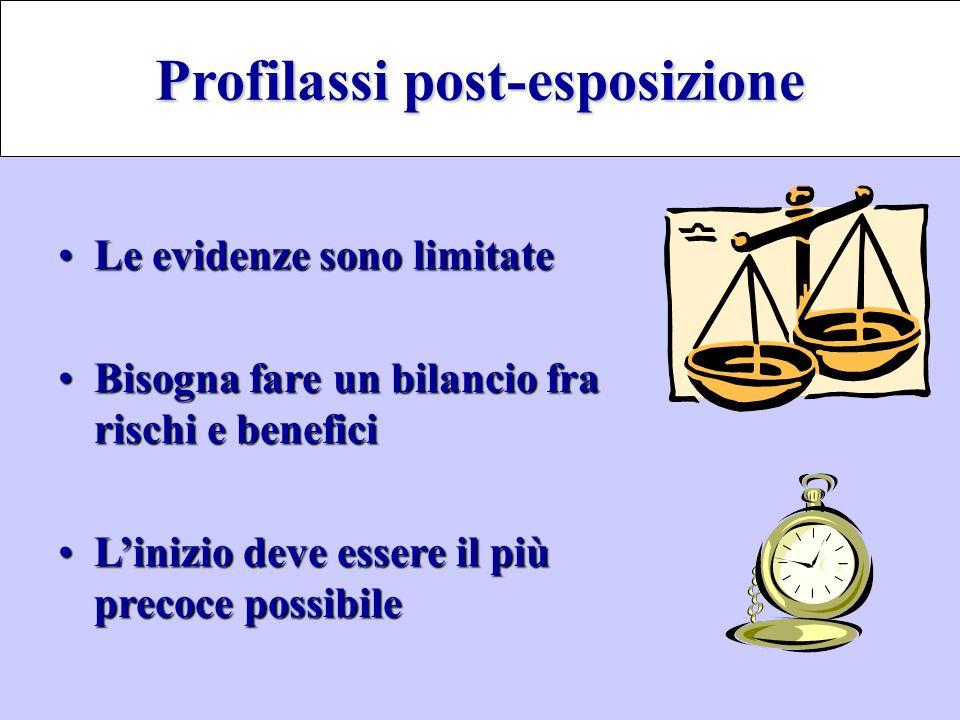 Le evidenze sono limitateLe evidenze sono limitate Bisogna fare un bilancio fra rischi e beneficiBisogna fare un bilancio fra rischi e benefici L'iniz