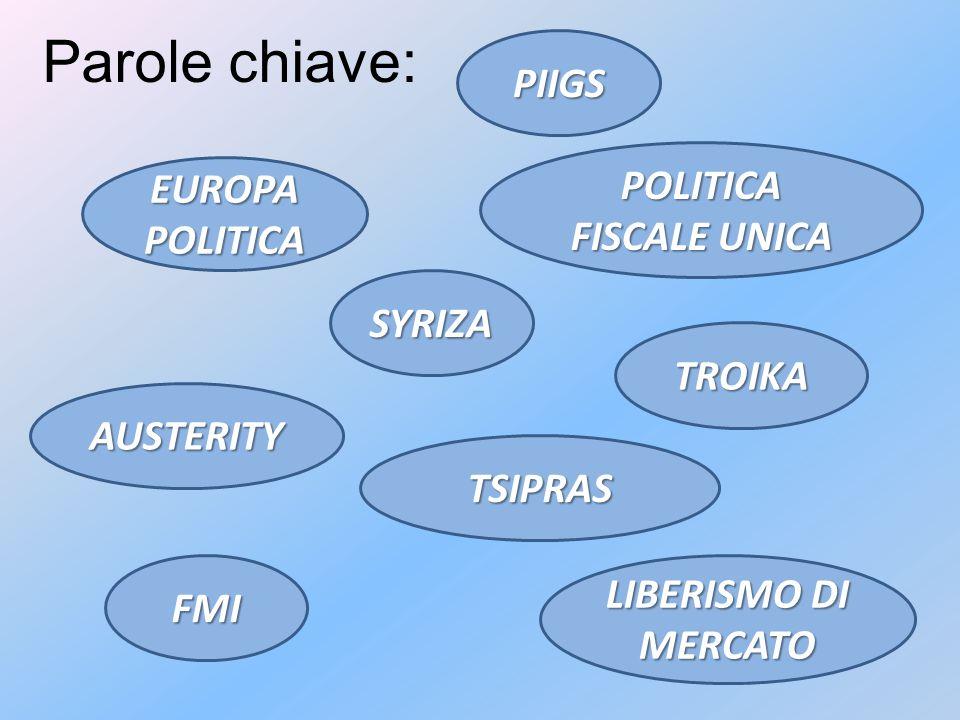 Parole chiave:SYRIZA TSIPRAS AUSTERITY TROIKA FMI LIBERISMO DI MERCATO PIIGS POLITICA FISCALE UNICA EUROPA POLITICA