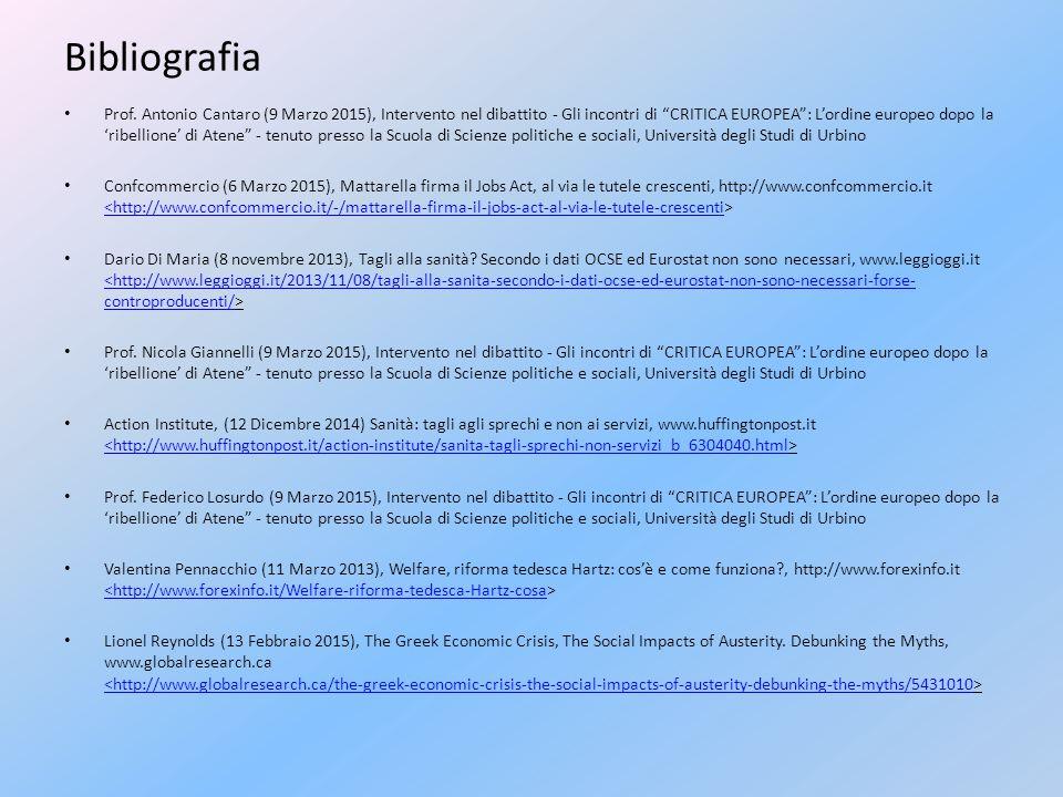 """Bibliografia Prof. Antonio Cantaro (9 Marzo 2015), Intervento nel dibattito - Gli incontri di """"CRITICA EUROPEA"""": L'ordine europeo dopo la 'ribellione'"""