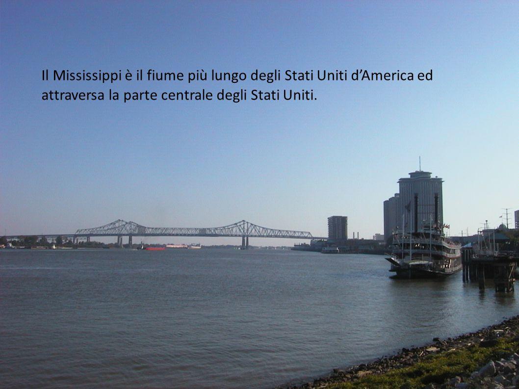 Il Mississippi è il fiume più lungo degli Stati Uniti d'America ed attraversa la parte centrale degli Stati Uniti.