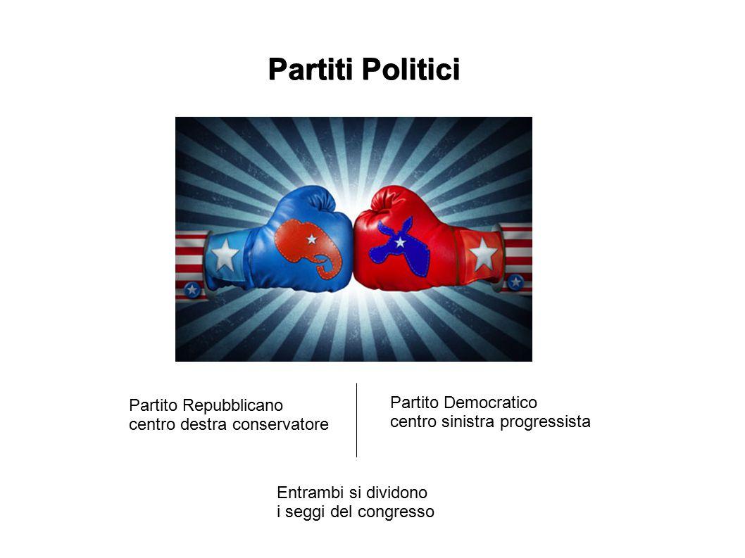 Partiti Politici Partito Repubblicano centro destra conservatore Partito Democratico centro sinistra progressista Entrambi si dividono i seggi del con