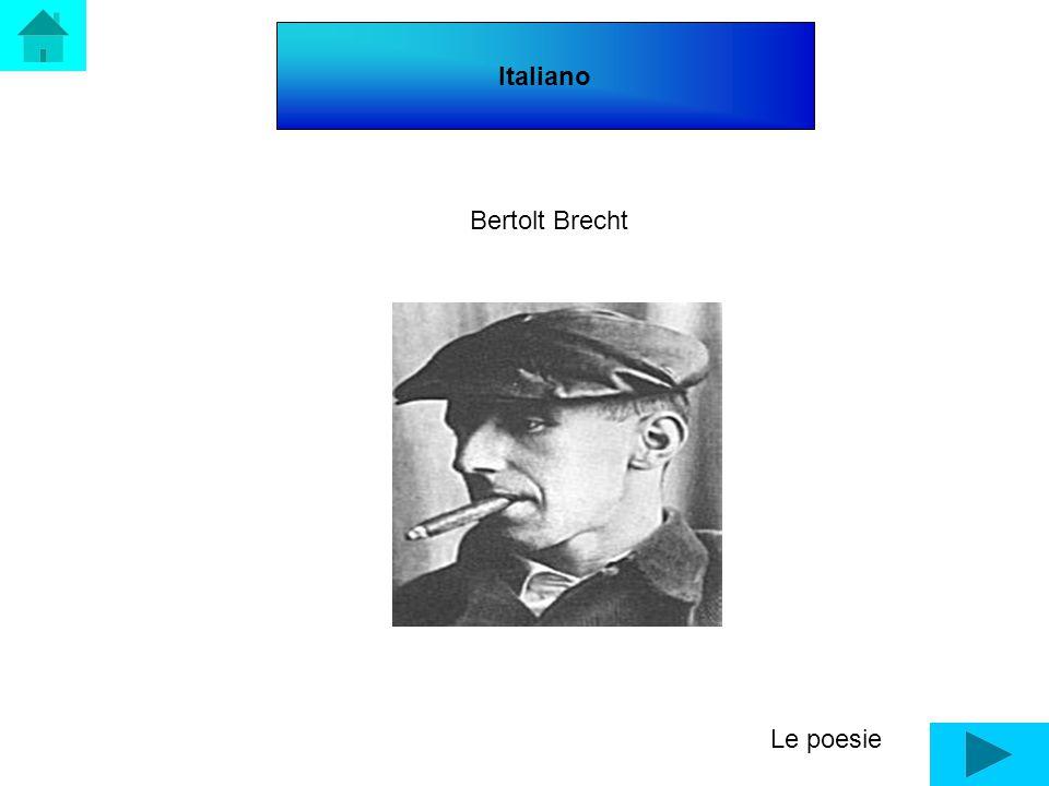 Italiano Le poesie Bertolt Brecht