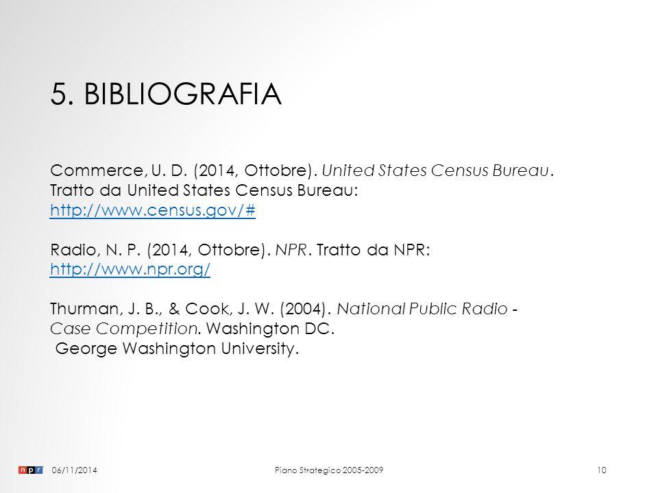 06/11/2014Piano Strategico 2005-20099