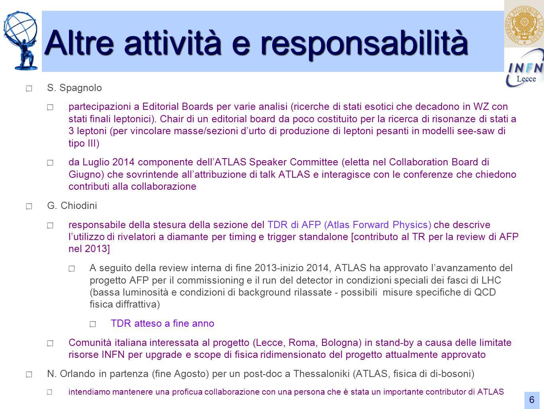 Lecce 6 Altre attività e responsabilità S.