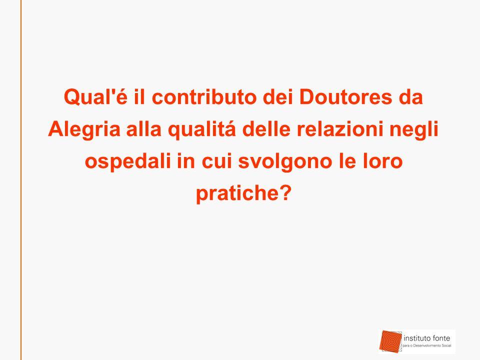 Qual é il contributo dei Doutores da Alegria alla qualitá delle relazioni negli ospedali in cui svolgono le loro pratiche