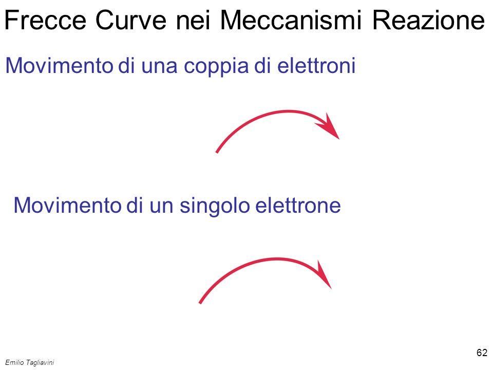 Emilio Tagliavini Chimica Organica TeCoRe - 2007/08 62 Frecce Curve nei Meccanismi Reazione Movimento di una coppia di elettroni Movimento di un singo