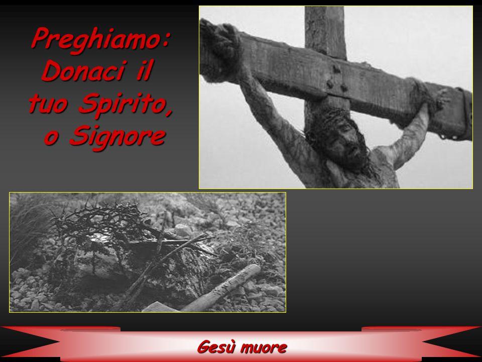 Gesù muore Preghiamo: Donaci il tuo Spirito, o Signore o Signore
