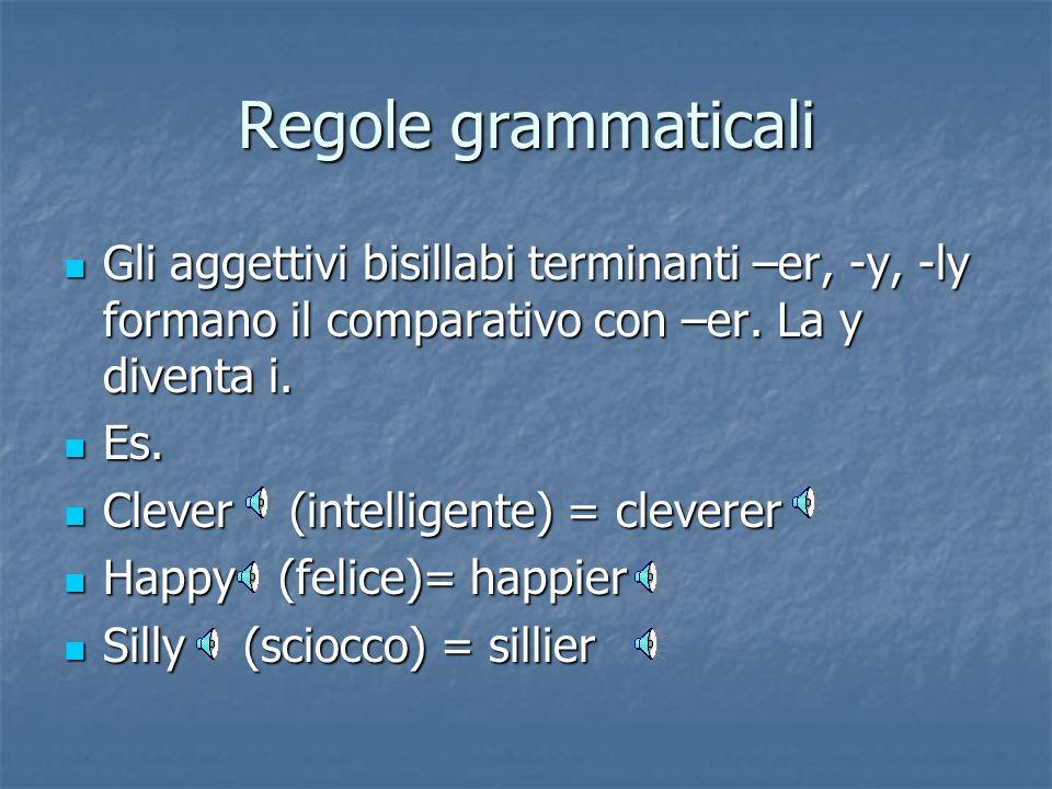 Più sillabe Gli aggettivi con più sillabe formano il comparativo con more: Gli aggettivi con più sillabe formano il comparativo con more: Es. Es. Beau