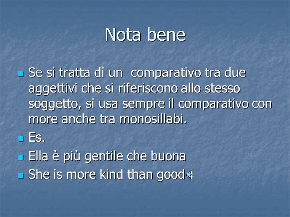 Uso Le parole che o di che seguono il comparativo italiano vengono tradotte sempre con than, prima del secondo termine di paragone. Le parole che o di