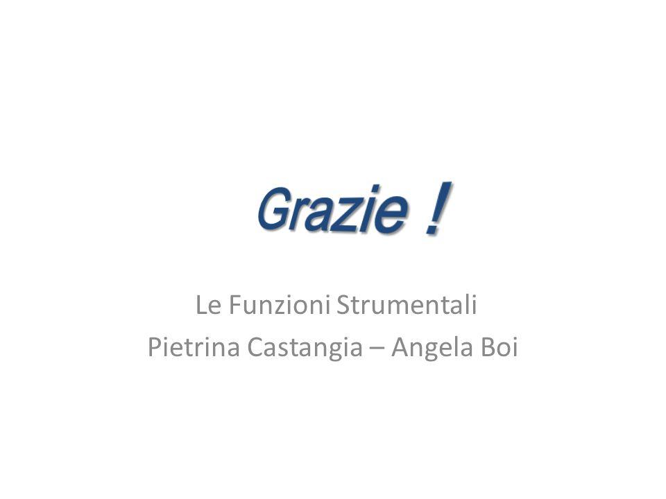 Le Funzioni Strumentali Pietrina Castangia – Angela Boi