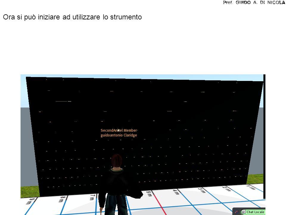 STEP 4: scrivere in SL-chat il testo che si vuole visualizzare