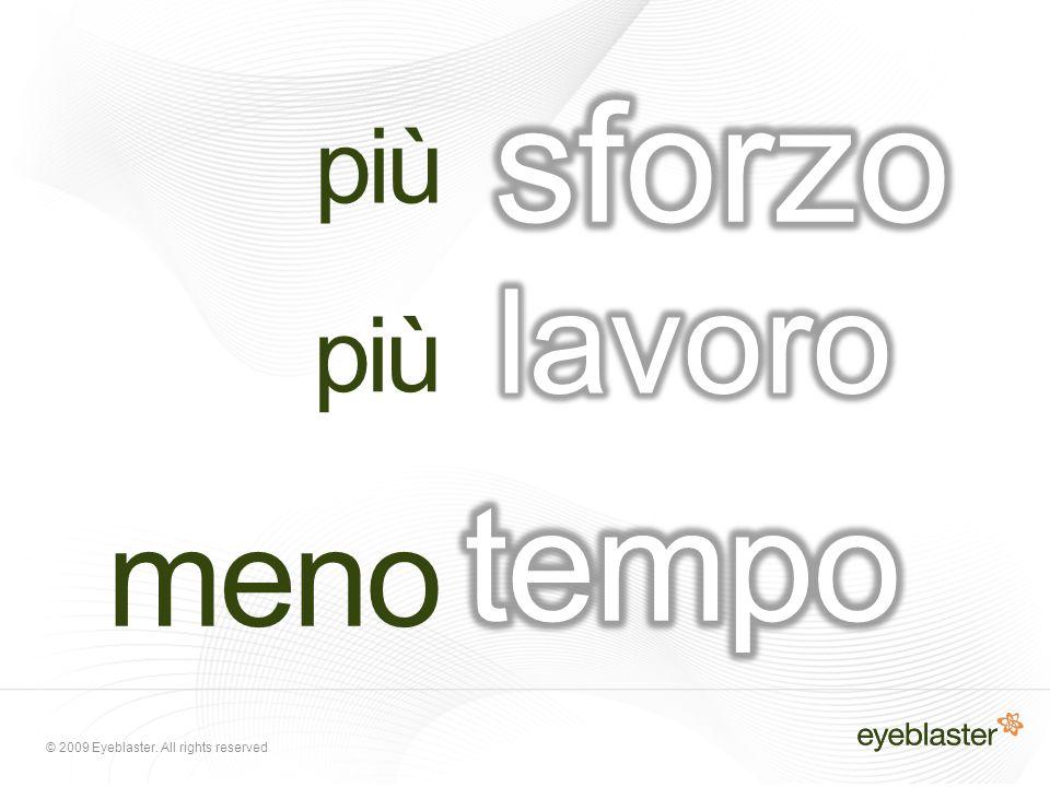 © 2009 Eyeblaster.All rights reserved Come lavorano insieme il Search e il Display.