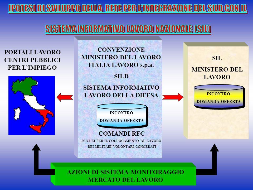 PORTALI LAVORO CENTRI PUBBLICI PER L'IMPIEGO AZIONI DI SISTEMA-MONITORAGGIO MERCATO DEL LAVORO CONVENZIONE MINISTERO DEL LAVORO ITALIA LAVORO s.p.a. S
