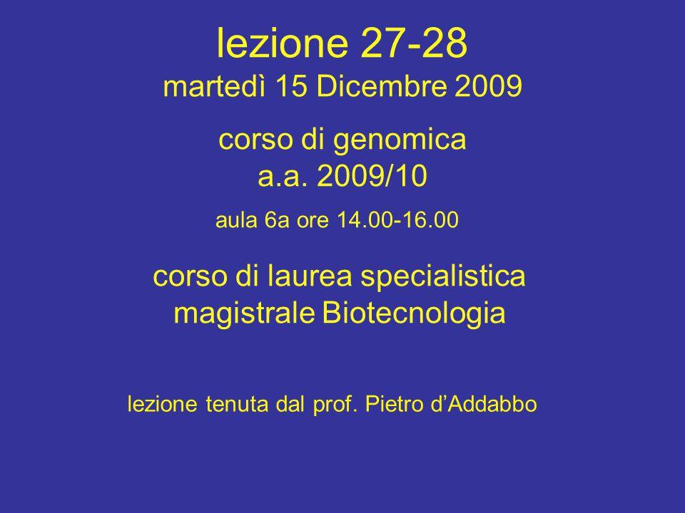 Bioinformatica per la Genetica e la Genomica