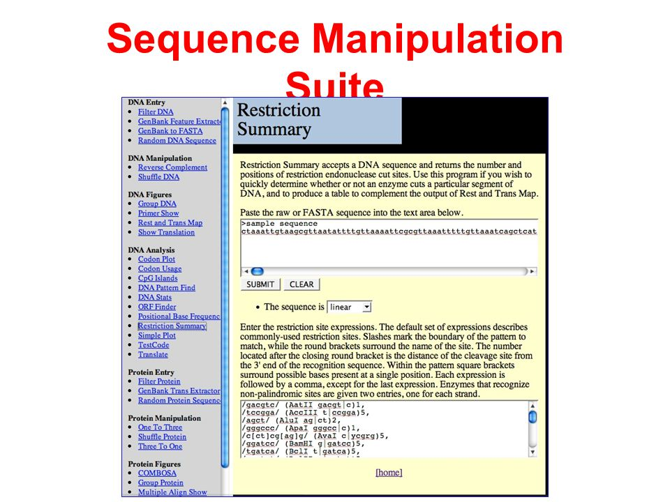 Sequence Manipulation Suite