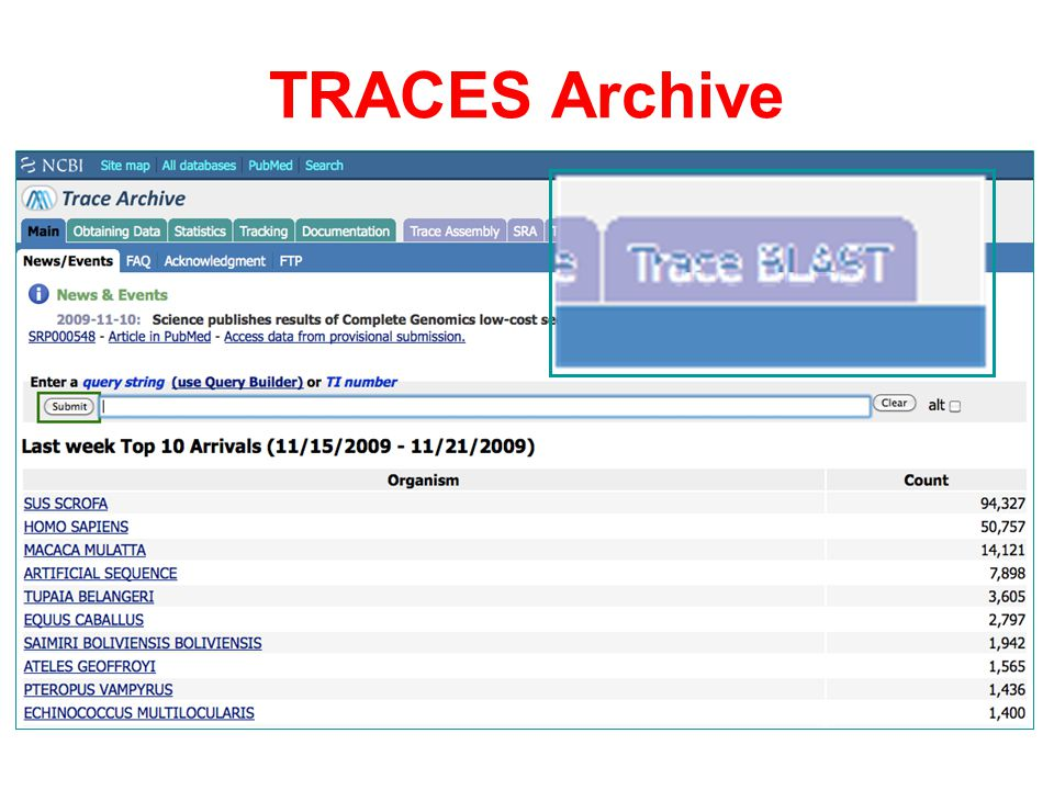 TRACES Archive