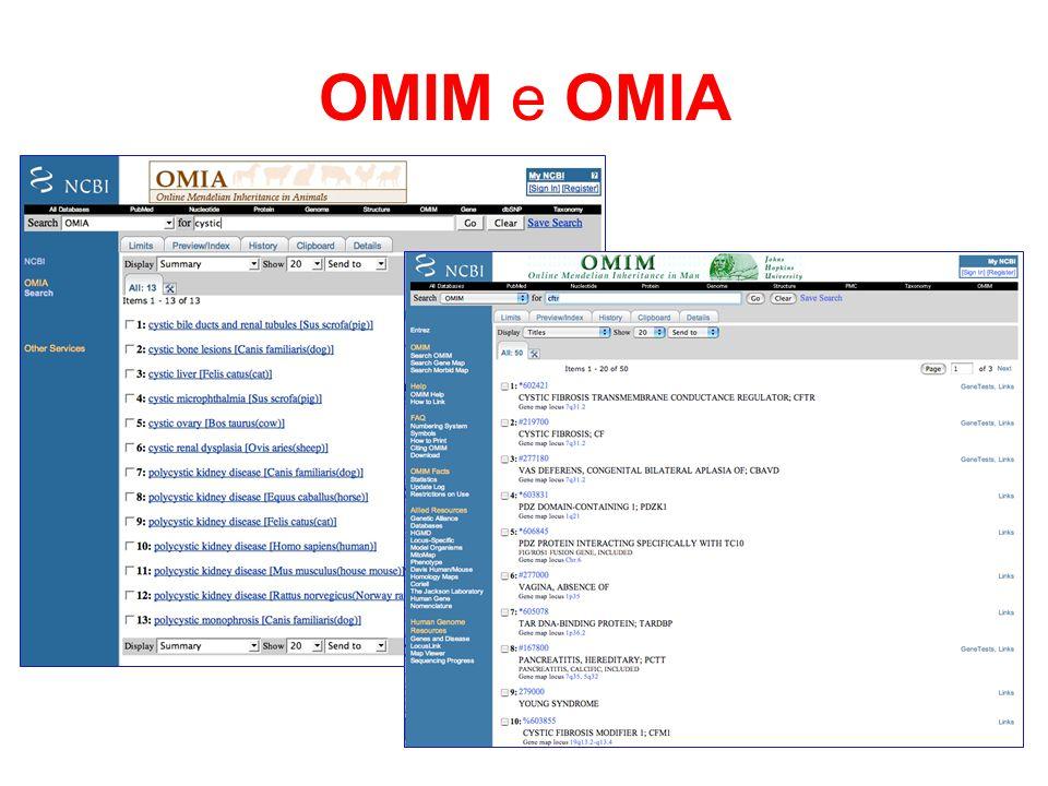 OMIM e OMIA