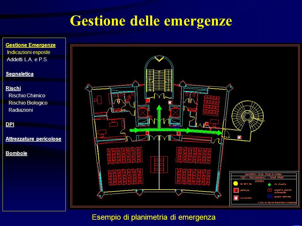 Segnaletica Gestione Emergenze Indicazioni esposte Addetti L.A.