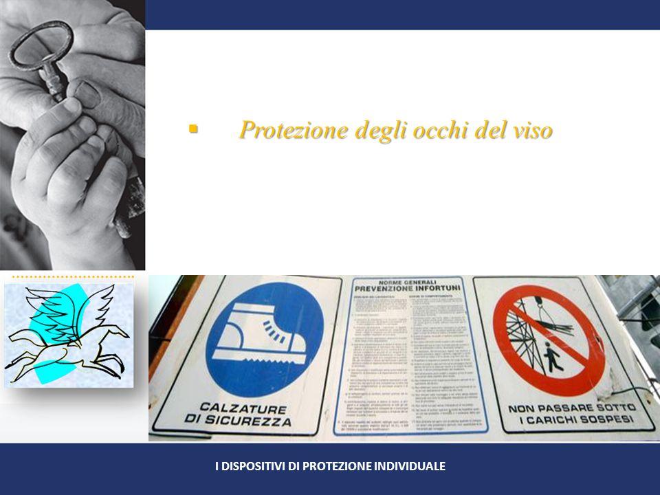  Protezione degli occhi del viso I DISPOSITIVI DI PROTEZIONE INDIVIDUALE
